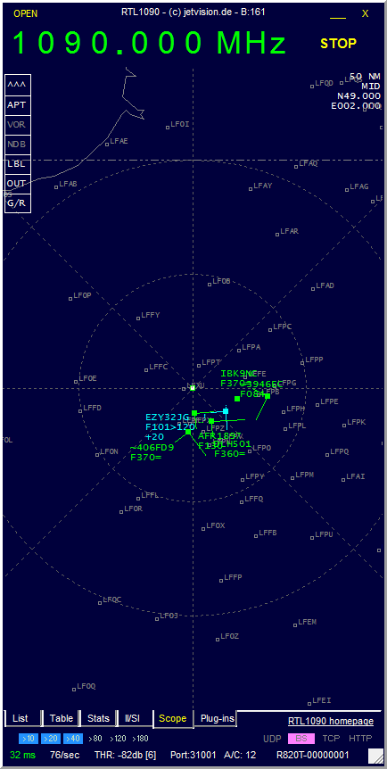 ADSB Planes Wide Band